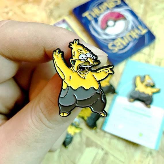 Los Simpsons y Pokémon se fusionan en unos divertidos pines