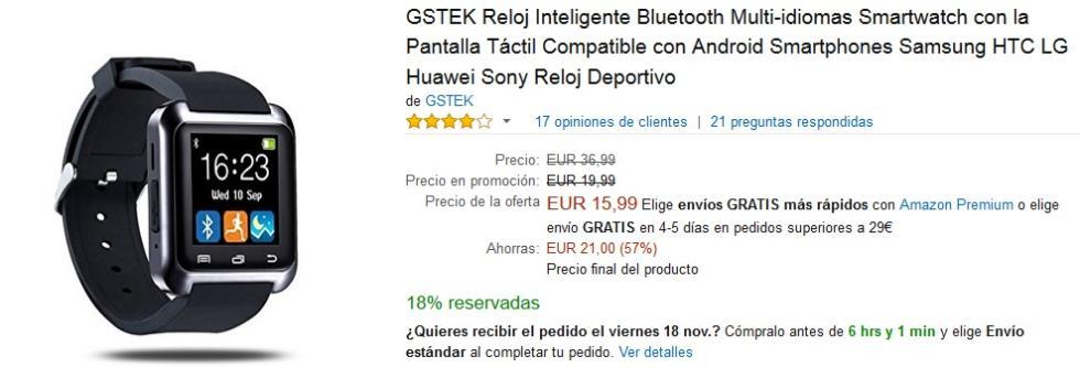 Black Friday Amazon - Smartwatch GSTEK