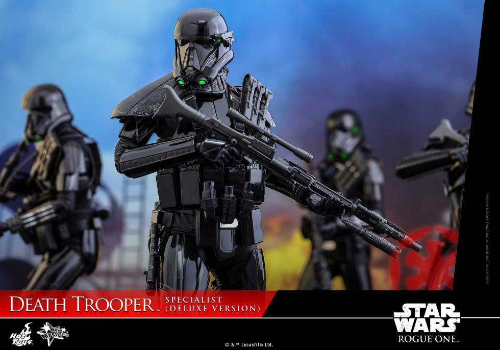 Star Wars Rogue One. Figura Death Trooper Specialist de Hot Toys versión Deluxe.