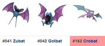 Zubat/Golbat/Crobat