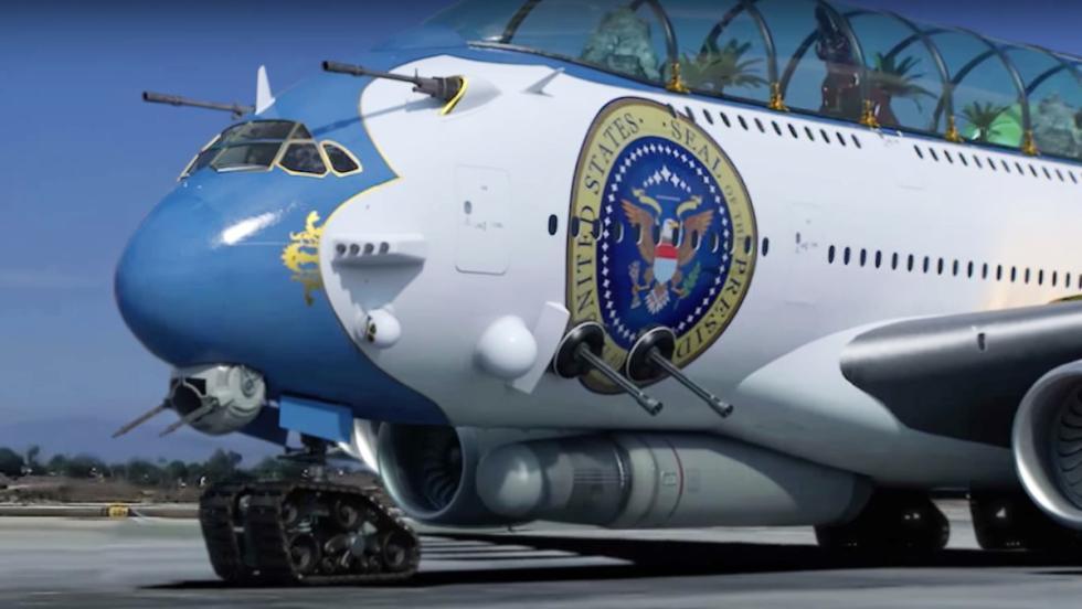 Así podrían ser el avión y coche oficiales de Donald Trump