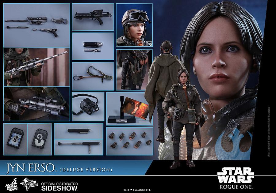 Figura de Jyn Erso de Hot Toys versión Deluxe