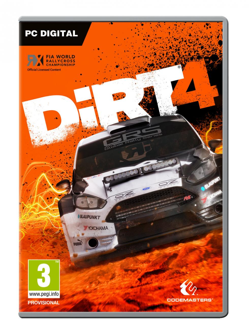 Carátula de DiRT 4 para PC Digital