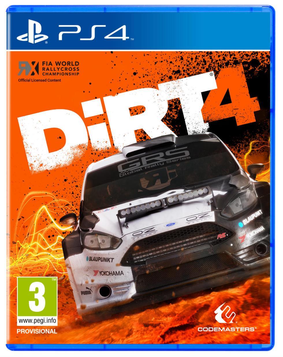 Carátula de DiRT 4 para PS4