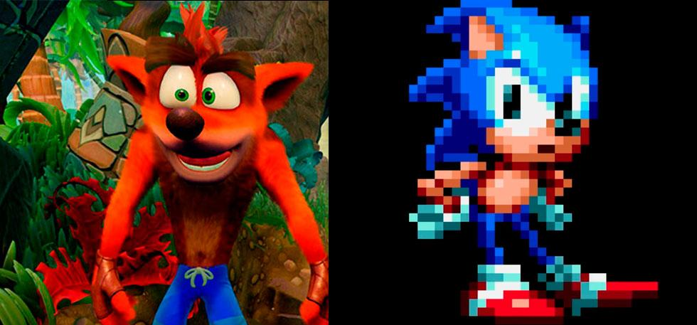 Crash Bandicoot y Sonic