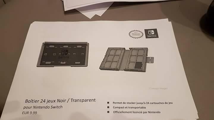 Nintendo Switch accesorios filtrados