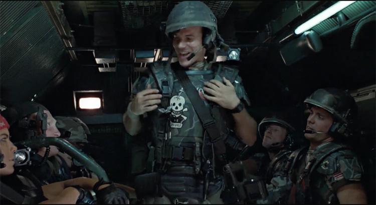 Bill Paxton como el soldado Hudson en Aliens: El regreso