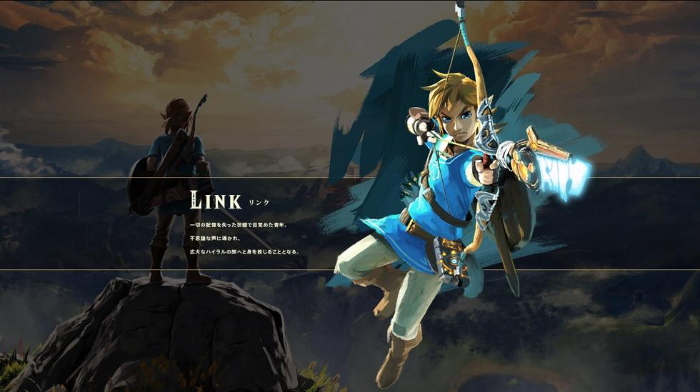 Link en The Legend of Zelda Breath of the Wild