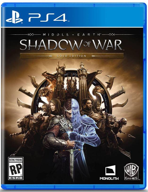 Middle Earth: Shadow of War Gold Edition - Carátula en PS4