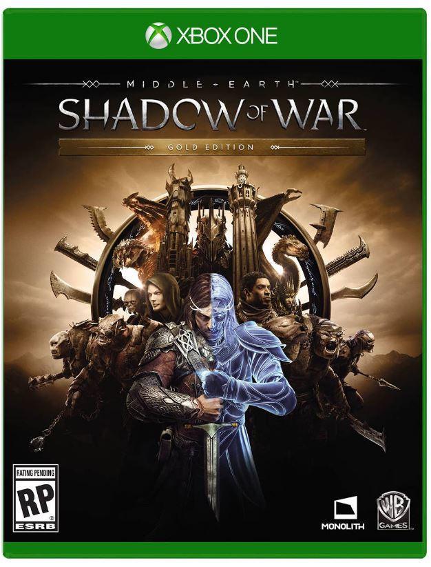 Middle Earth: Shadow of War Gold Edition - Carátula en Xbox One