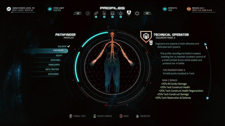 Mass Effect Andromeda - Clases