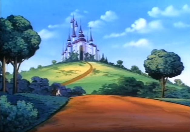 Castillo de Hyrule en Zelda la serie animada