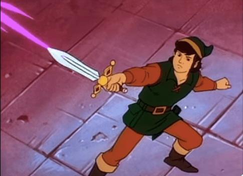 Link en Zelda la serie animada
