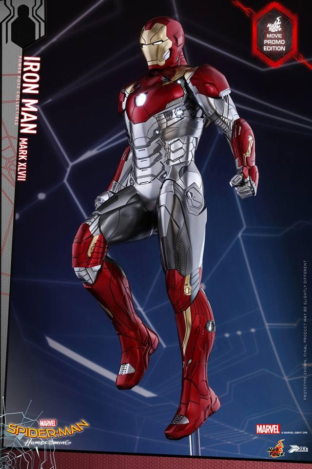 Nueva figura de Hot Toys de Iron Man con su look de Spider-man homecoming