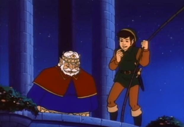 Rey en Zelda la serie animada