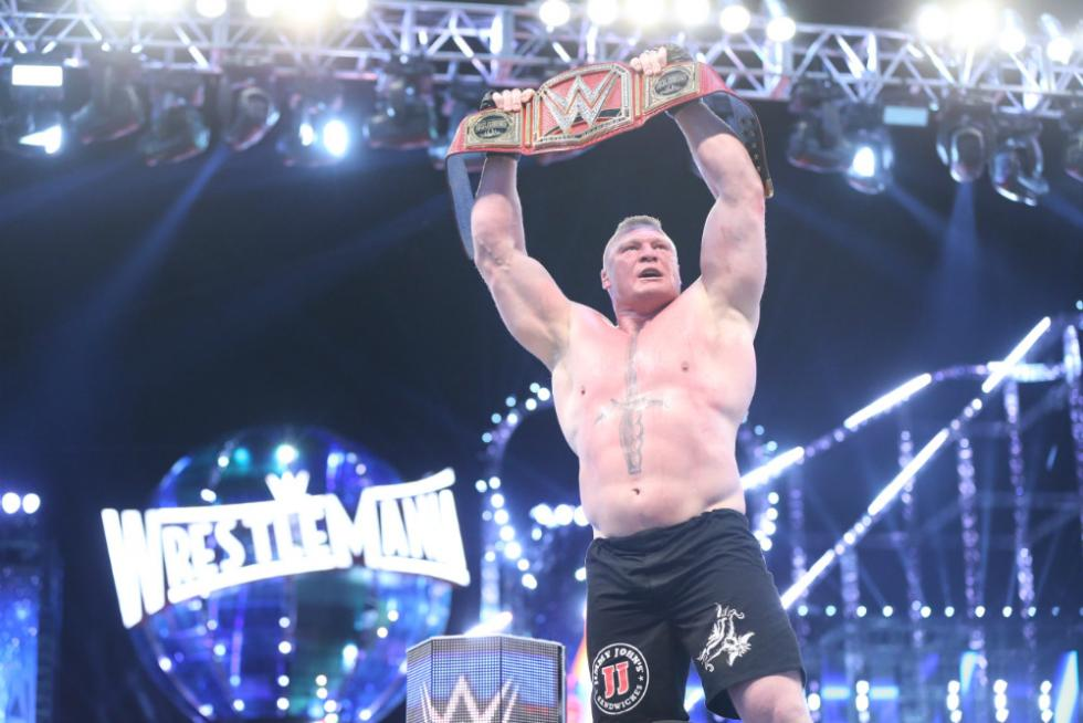 WrestleMania 33 - Campeonato Universal de la WWE - Goldberg vs. Brock Lesnar