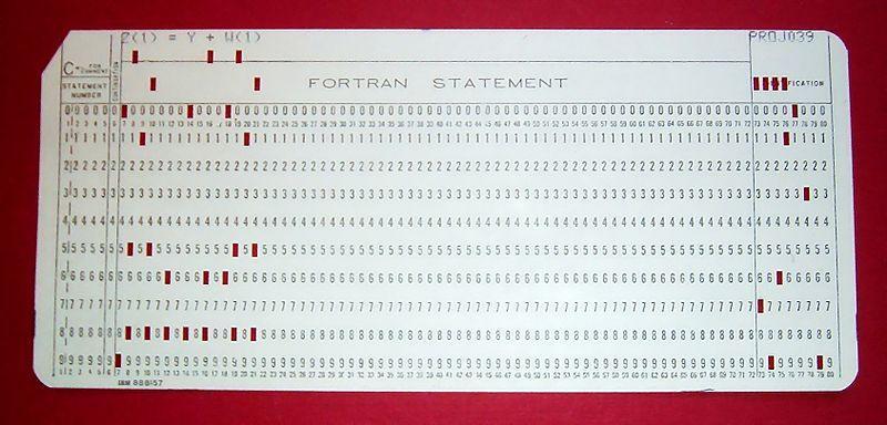 FORTAN, el primer lenguaje de programación