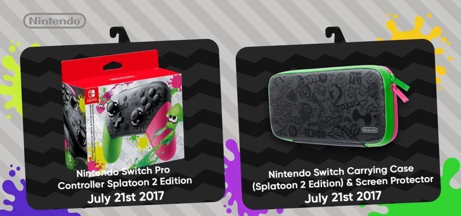 Mando Pro y funda de Splatoon 2 para Nintendo Switch