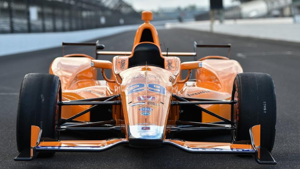 El McLaren-Honda de Alonso en la Indycar