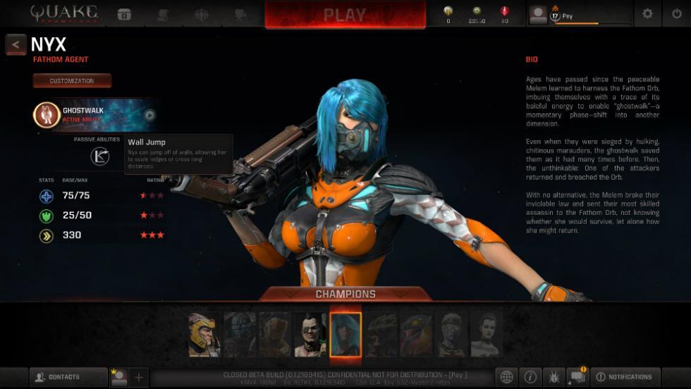 Quake Champions - Nyx