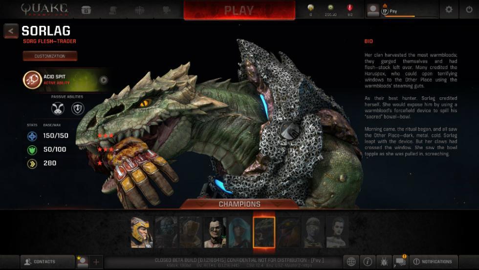 Quake Champions - Sorlag