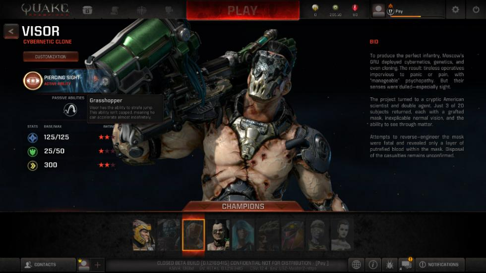 Quake Champions - Visor