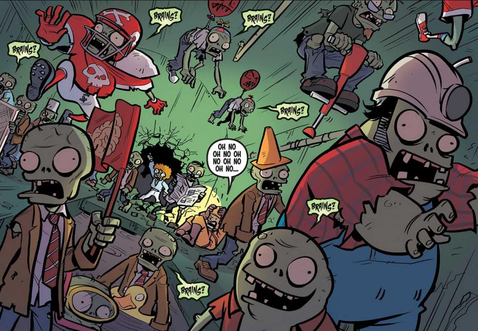 Plants vs. Zombies: Hierbagedón - Review del cómic del juego