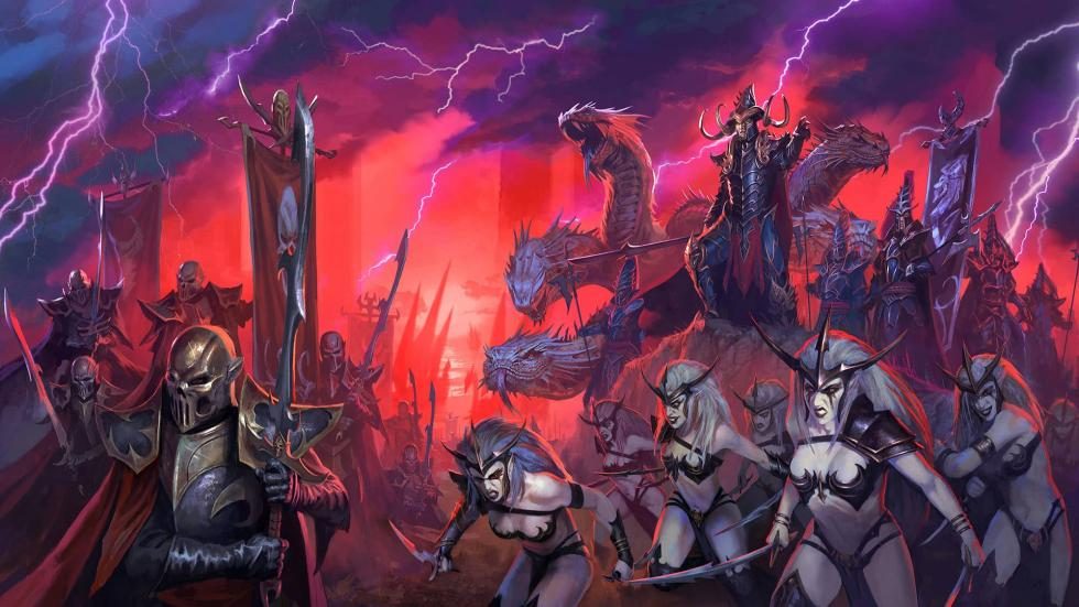 Artwork de las razas de Total War Warhammer II
