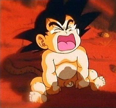 Goku llora