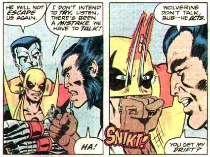 Puño de Hierro y los X-men. Primer encuentro