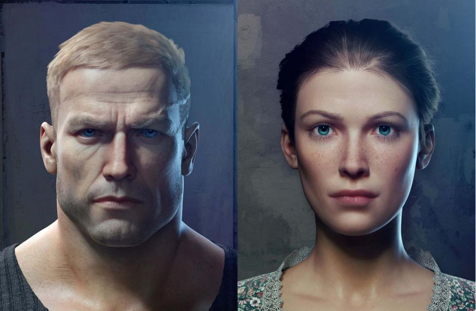 Wolfenstein 2 The New Colossus - Anya y B.J. Blazkowicz
