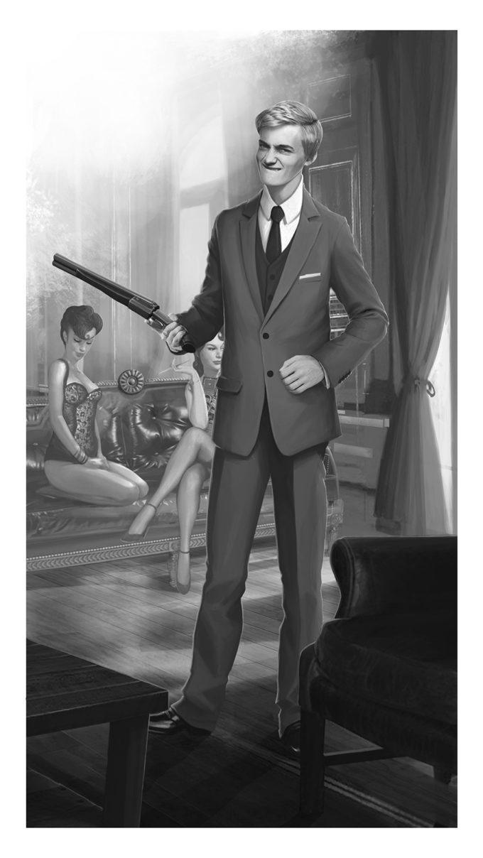 Cine negro, Ricean Vlad, ilustracion