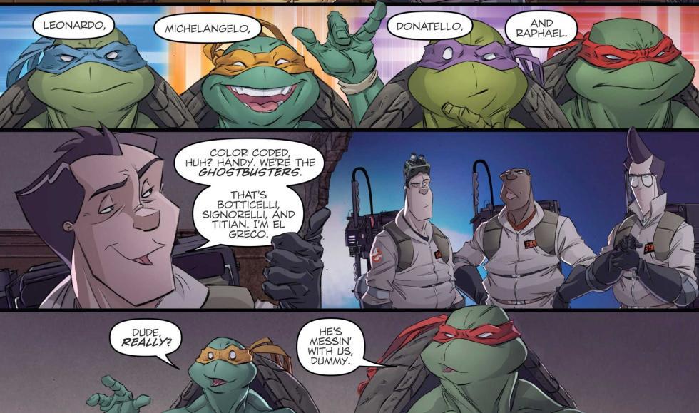 Cazafantasmas / Tortugas Ninja, el crossover que quieres leer