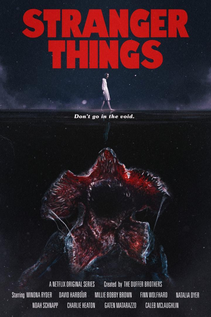Póster Stranger Things Tiburón