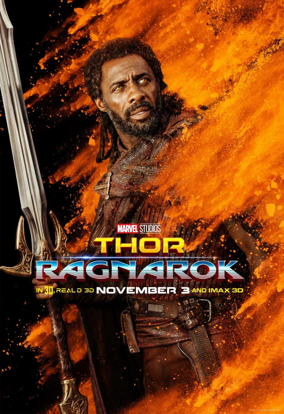 Thor: Ragnarok - Nueva galería de pósters individuales