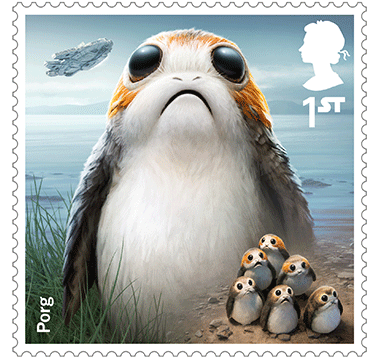 Todos los sellos del Royal Mail de Star Wars