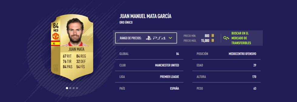 FIFA 18 - Juan Mata