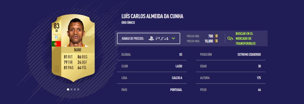 FIFA 18 - Nani