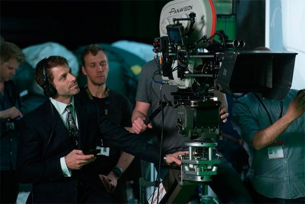 Liga de la Justicia imágenes del rodaje con Zack Snyder