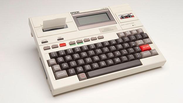 Epson HX-20. El primer portátil con baterías recargables