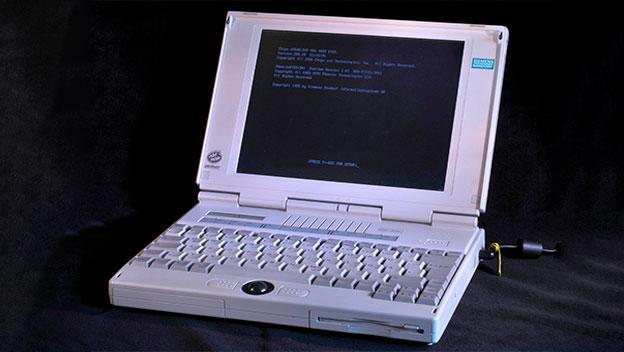 Los portátiles en 1995 ya contaban con unidades extraíbles y trackball.