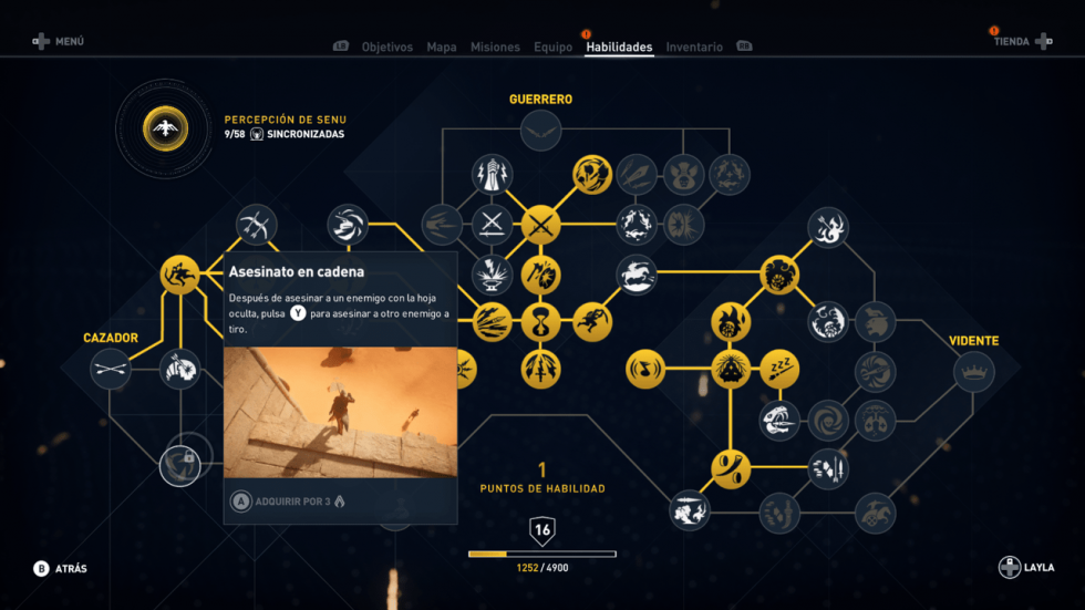 Asesinato en cadena Assassin's Creed Origins