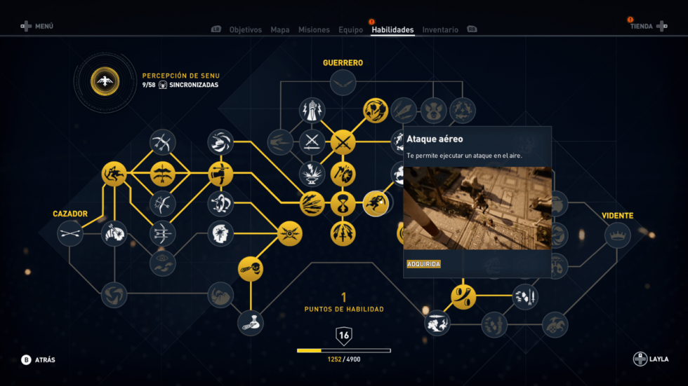 Ataque aéreo (Guerrero) Assassin's Creed Origins