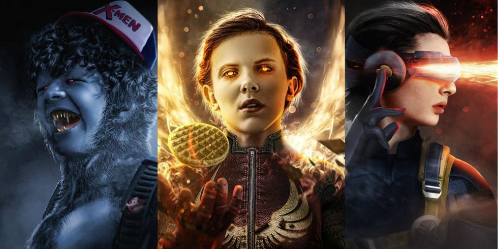 Los protagonistas de Stranger Things como personajes de X-Men