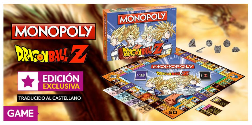 Monopoly de Dragon Ball Z en castellano exclusivo de GAME