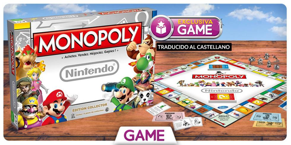 Monopoly de Nintendo en castellano exclusivo de GAME