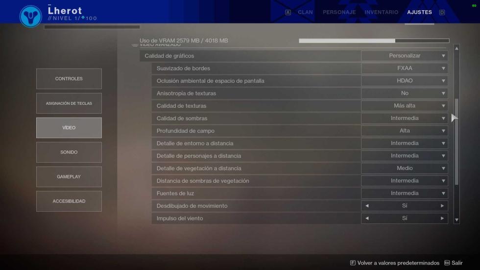 Configuración gráfica juegos Thunderobot GX97 - eSports