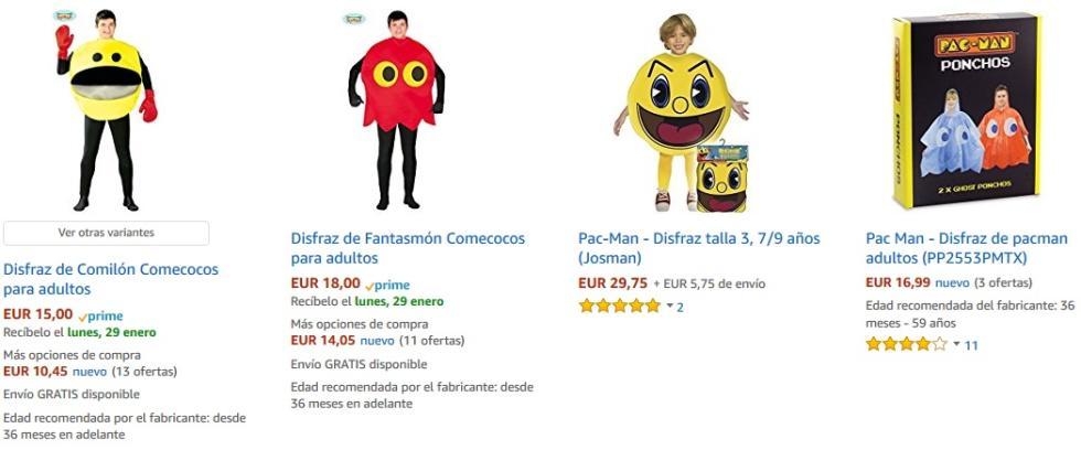 Disfraces en grupo - Pac-Man y los fantasmas