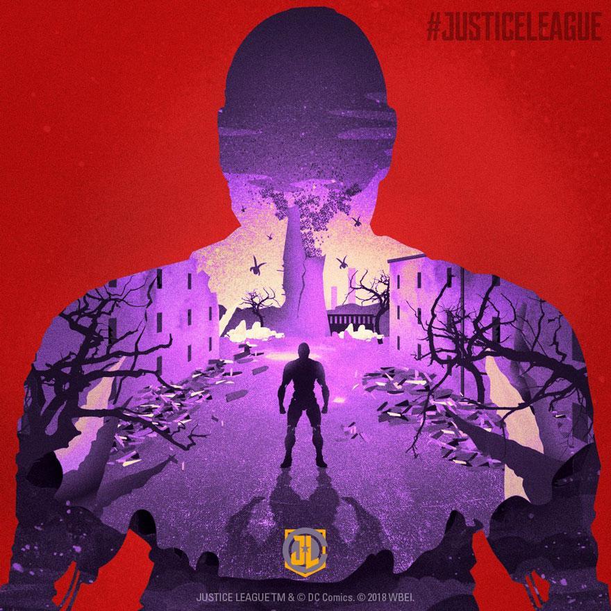 Aquaman y Cyborg pósters Liga de la Justicia
