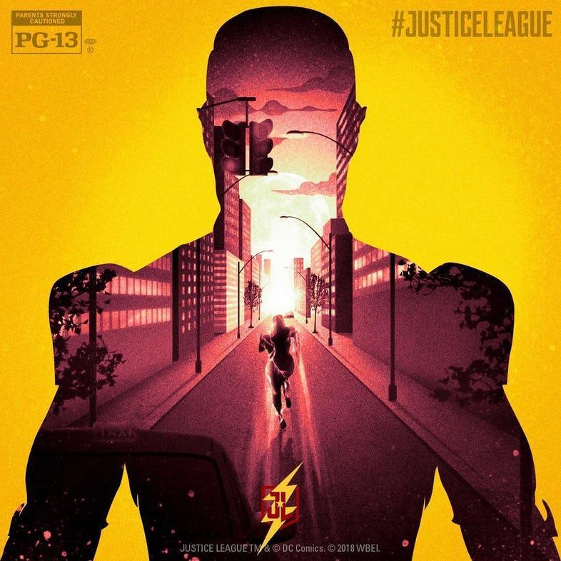 Batman póster doméstico Liga de la Justicia
